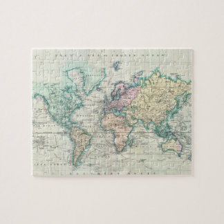 Vintage Map of The World (1801) Jigsaw Puzzle