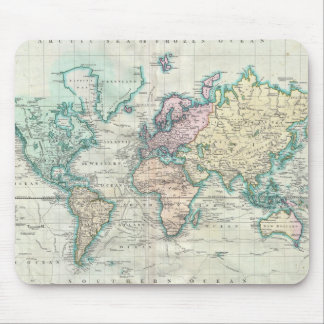 Vintage Map of The World (1801) Mouse Pad