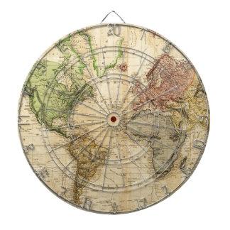 Vintage Map of The World (1831) Dartboard