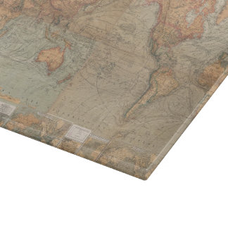 Vintage Map of The World (1870) Cutting Board