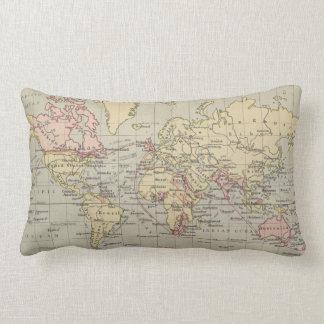 Vintage Map of The World (1914) Lumbar Cushion