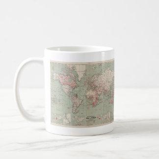 Vintage Map of The World (1918) Coffee Mug