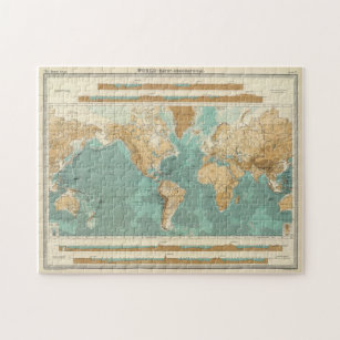 Vintage Map of The World (1922) Jigsaw Puzzle