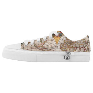 Vintage Map of the World Low Tops