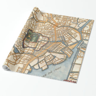 Vintage Map of Tokyo Japan (1752) Wrapping Paper