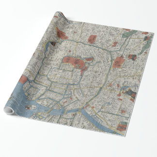 Vintage Map of Tokyo Japan (1850) Wrapping Paper
