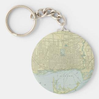 Vintage Map of Toronto (1901) Key Ring