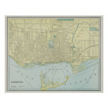 Vintage Map of Toronto (1901) Poster