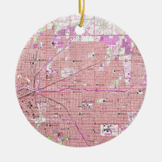 Vintage Map of Tulsa Oklahoma (1954) Christmas Ornament