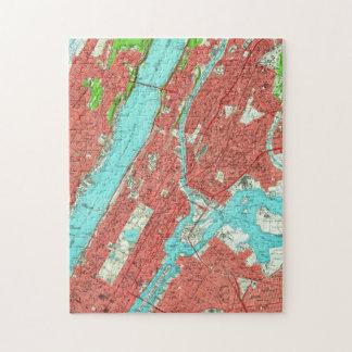 Vintage Map of Uptown Manhattan & The Bronx (1956) Jigsaw Puzzle