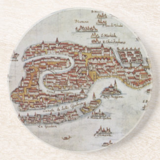 Vintage Map of Venice (1649) Coaster