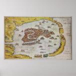 Vintage Map of Venice (1649) Print
