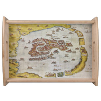 Vintage Map of Venice (1649) Serving Tray