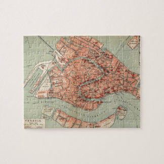 Vintage Map of Venice Italy (1920) Jigsaw Puzzle