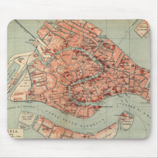 Vintage Map of Venice Italy (1920) Mouse Mat