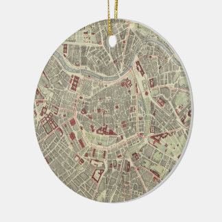 Vintage Map of Vienna Austria (1883) Christmas Ornament