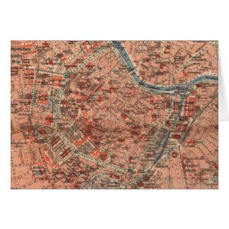 Vintage Map of Vienna Austria (1920) Card