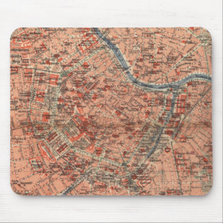 Vintage Map of Vienna Austria (1920) Mouse Pad