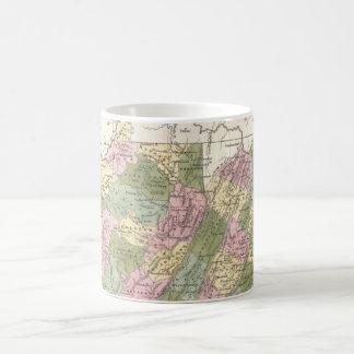 Vintage Map of Virginia (1838) Mugs