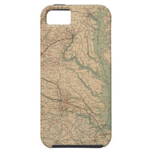 Vintage Map of Virginia Battlefields (1892) iPhone 5 Covers