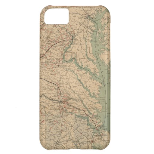 Vintage Map of Virginia Battlefields (1892) iPhone 5C Covers