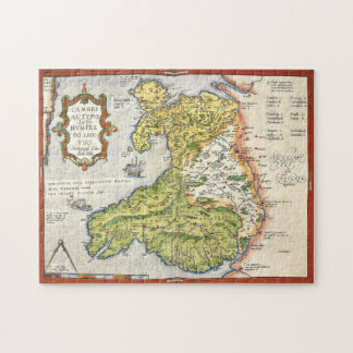 Vintage Map of Wales and Anglesey 1579 Jigsaw Puzzle