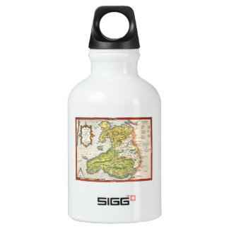 Vintage Map of Wales and Anglesey 1579 SIGG Traveller 0.3L Water Bottle
