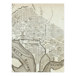 Vintage Map of Washington D.C. (1794) Postcards