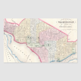 Vintage Map of Washington D.C. (1864) Stickers