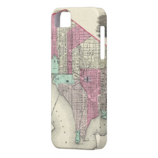 Vintage Map of Washington D.C. (1866) Barely There iPhone 5 Case