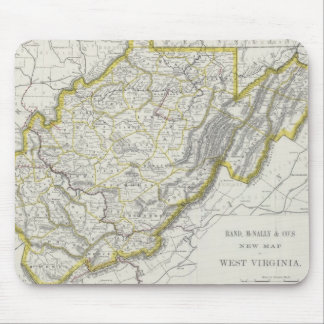 Vintage Map of West Virginia (1889) Mouse Pad