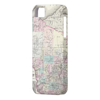 Vintage Map of Wisconsin (1855) iPhone 5 Cases