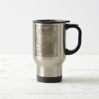 Vintage Map of Wisconsin (1855) Travel Mug