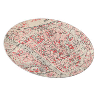 Vintage Map of Wurzburg Germany (1905) Plate