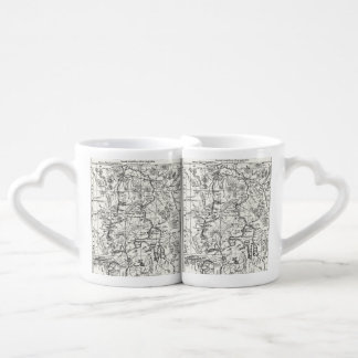 Vintage Map of Yellowstone National Park Lovers Mug