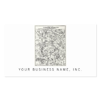 Vintage Map of Yellowstone National Park Pack Of Standard Business Cards