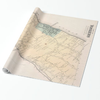 Vintage Map of Yonkers New York (1867) Wrapping Paper