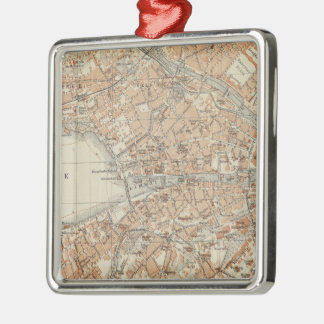 Vintage Map of Zurich Switzerland (1913) Christmas Ornament