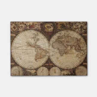 Vintage Map Post-it Notes