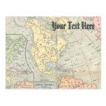 Vintage Map Postcard