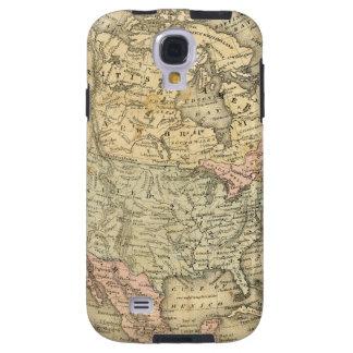 Vintage Map Print of North America Galaxy S4 Case