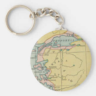 Vintage Map Propontis Mysia Lydia Greece Key Ring
