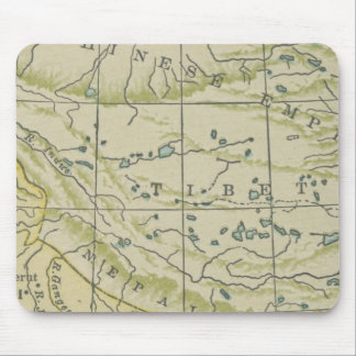 Vintage Map Tibet Mouse Pad