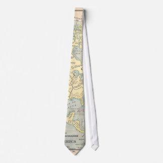 Vintage Map Tie