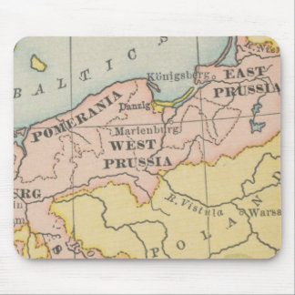 Vintage Map West Prussia Mouse Pads