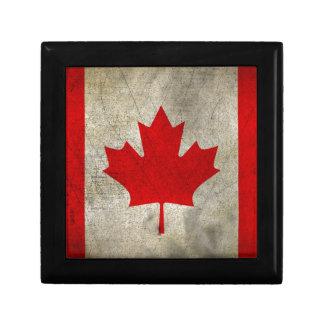 Vintage Maple Leaf Canadian Flag Gift Boxes