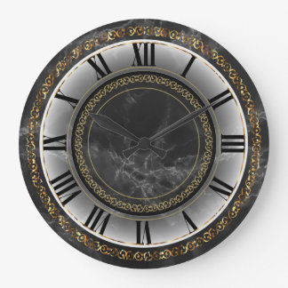 Vintage Marble and Gold Design Wall Clocks