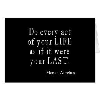 Vintage Marcus Aurelius Last Act of Life Quote Card