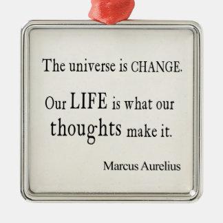 Vintage Marcus Aurelius Universe Change Life Quote Christmas Ornament