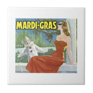 Vintage Mardi Gras Fruit Crate Label Tile